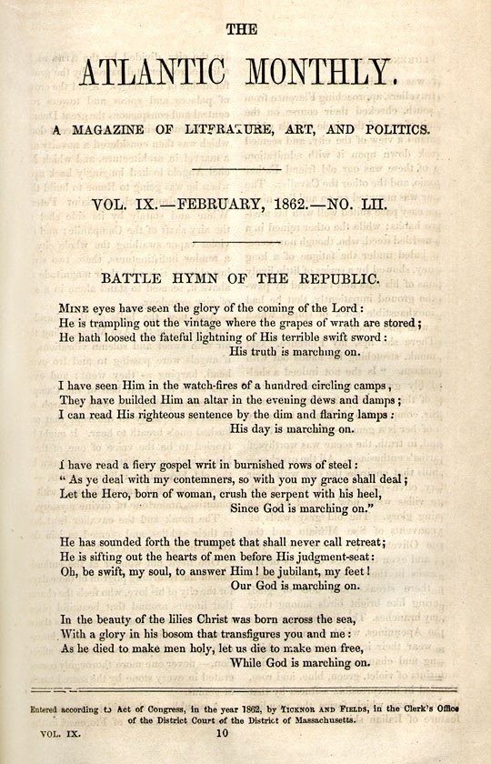 How 'The Battle Hymn Of The Republic' Became Everybody's Anthem : NPR