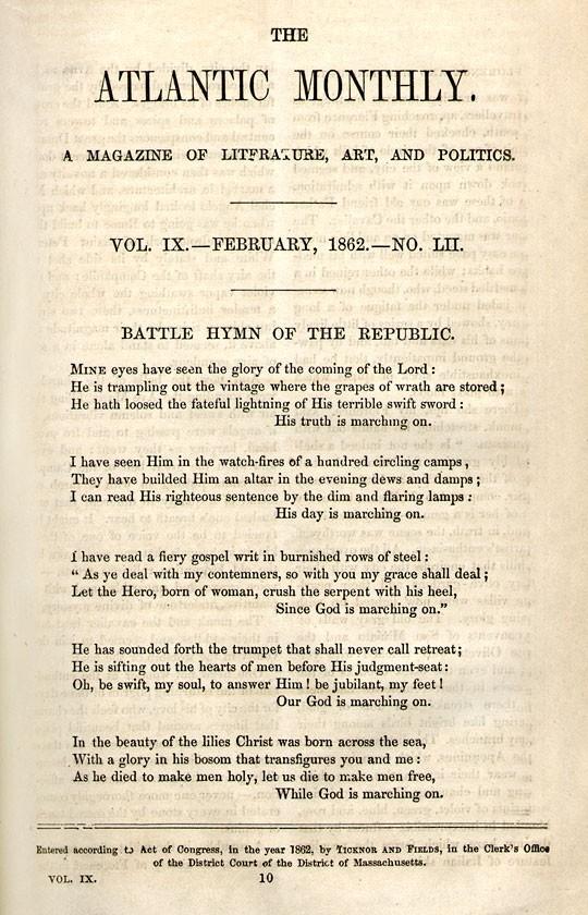 The Legacy of Julia Ward Howe's 'Battle Hymn of the Republic
