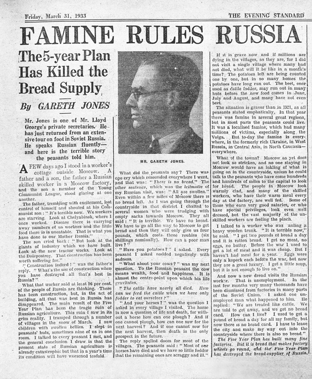 How Stalin Hid Ukraine's Famine From the World