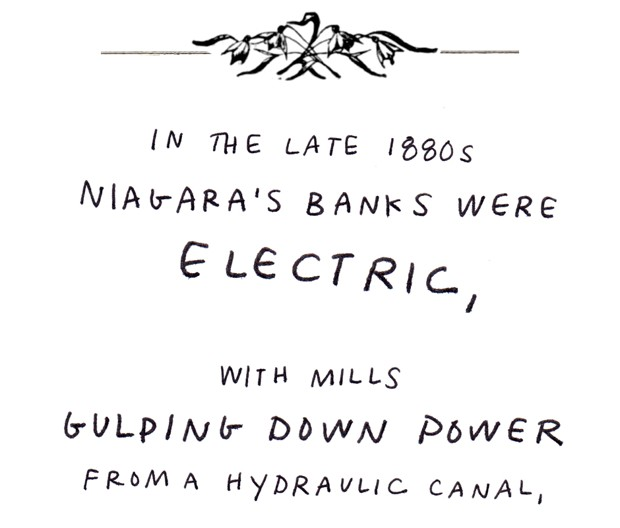 In the late 1880s Niagara's banks were electric, with mills gulping down power from a hydraulic canal,