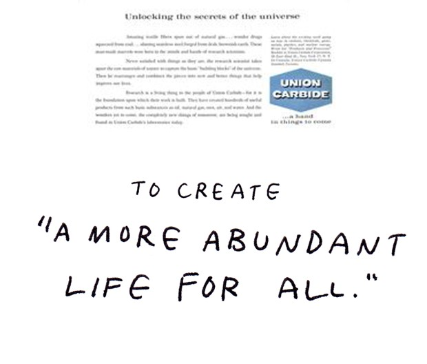 "to create a ""more abundant life for all."""