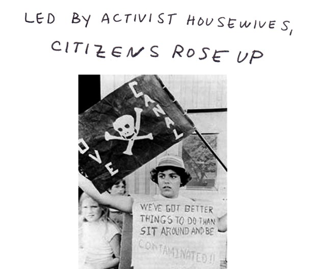 Led by activist housewifes, citizens rose up