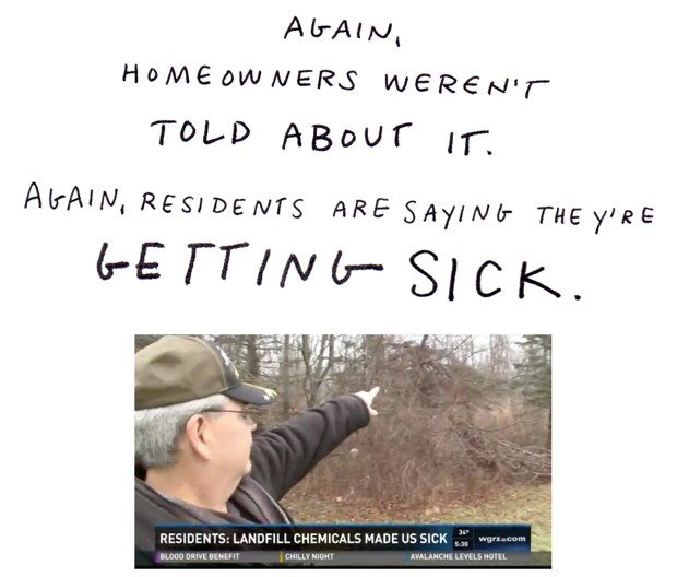 Again, homeowners weren't told about it. Again, residents are saying they're getting sick.