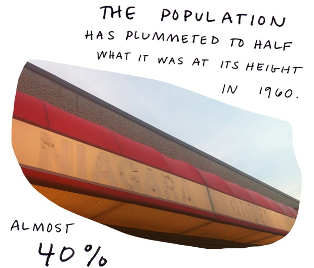 The population has plummeted to half what it was at its height in 1960. Almost 40 percent