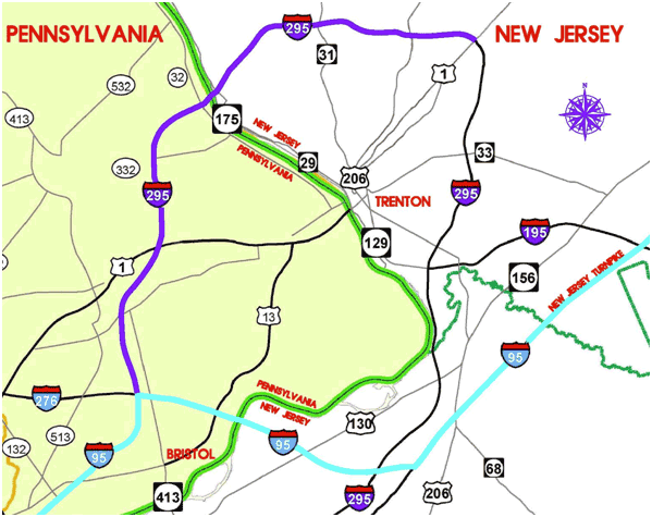 After 61 Years, Interstate 95 Is Almost Complete - The Atlantic on i-95 northeast corridor map, major deegan map, interstate 95 in rhode island map, interstate 91 map, miami i-95 map, i-95 highway map, george washington bridge new york map, southern ct map, i-95 philadelphia map, interstate i-95 map,
