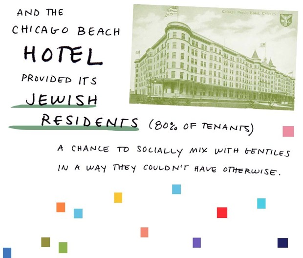 and the Chicago Beach Hotel provided its Jewish residents (80% of tenants) a chance to socially mix with gentiles in a way they couldn't have otherwise.