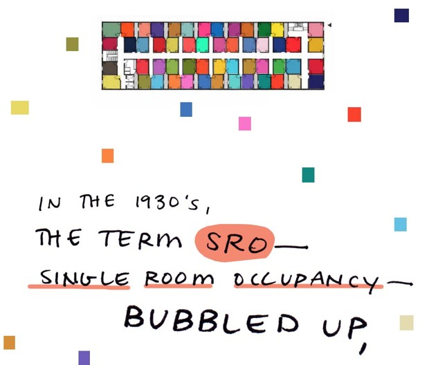 In the 1930s, the term SRO - single room occupancy - bubbled up,
