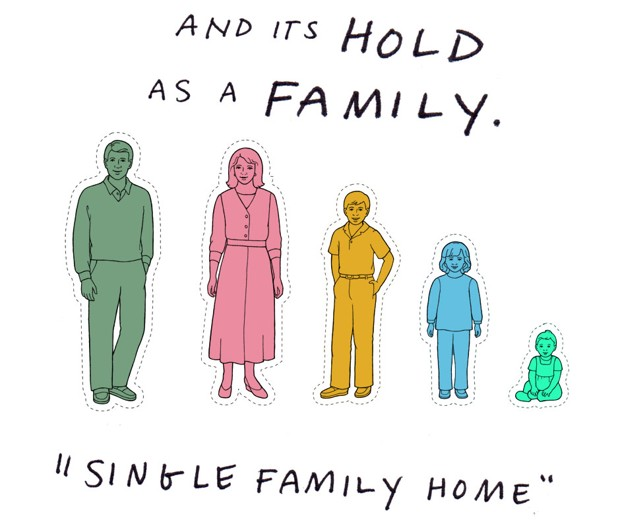 "And its hold as a family. ""Singly family home"""