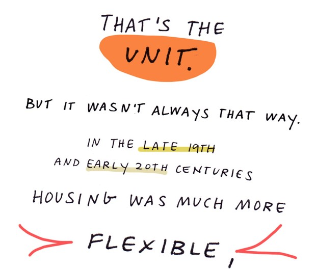 That's the unit. But it wasn't always that way. In the late 19th and early 20th centuries housing was much more flexible,