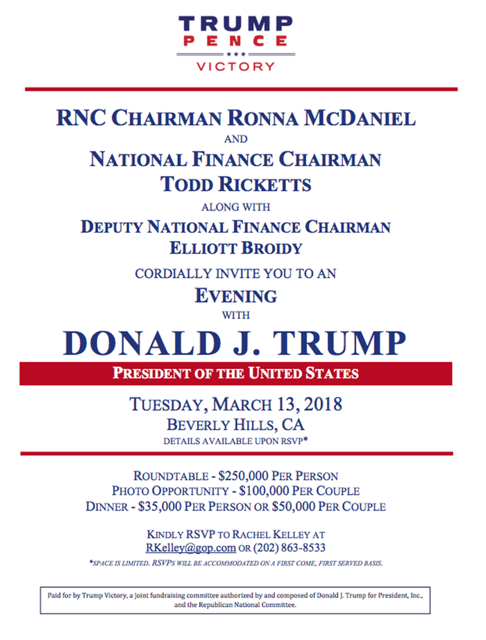 Donald Trump's Night With Rich Donors in Beverly Hills