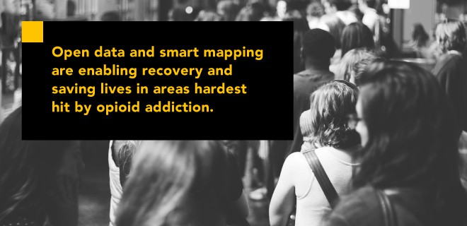 Open data smart mapping opioid recovery addiction