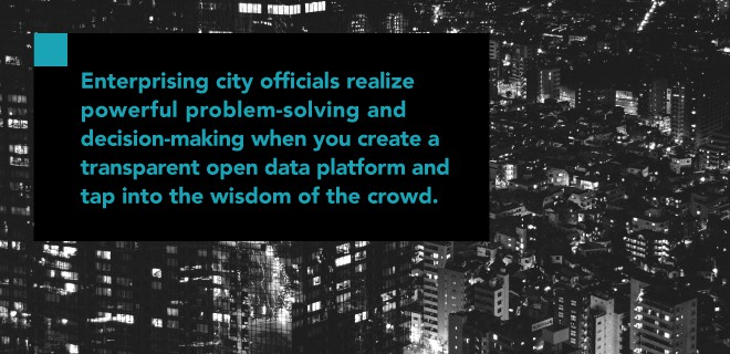 city officials problem solving transparent open data