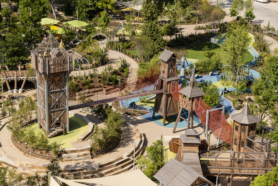 aerial view of adventure playground