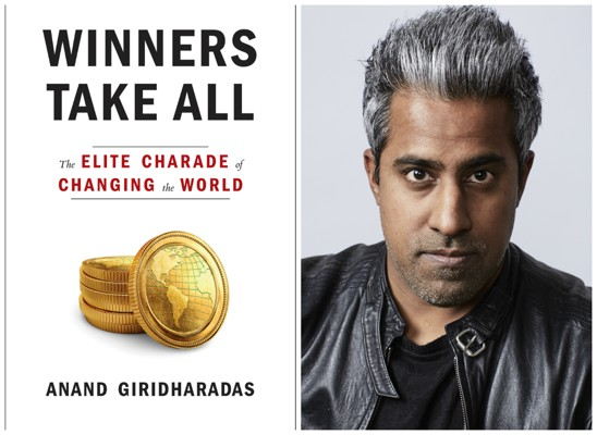 Anand Giridharadas book cover and headshot