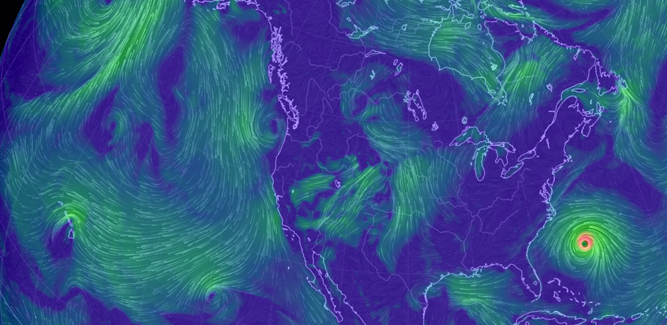 a screenshot of interactive weather map