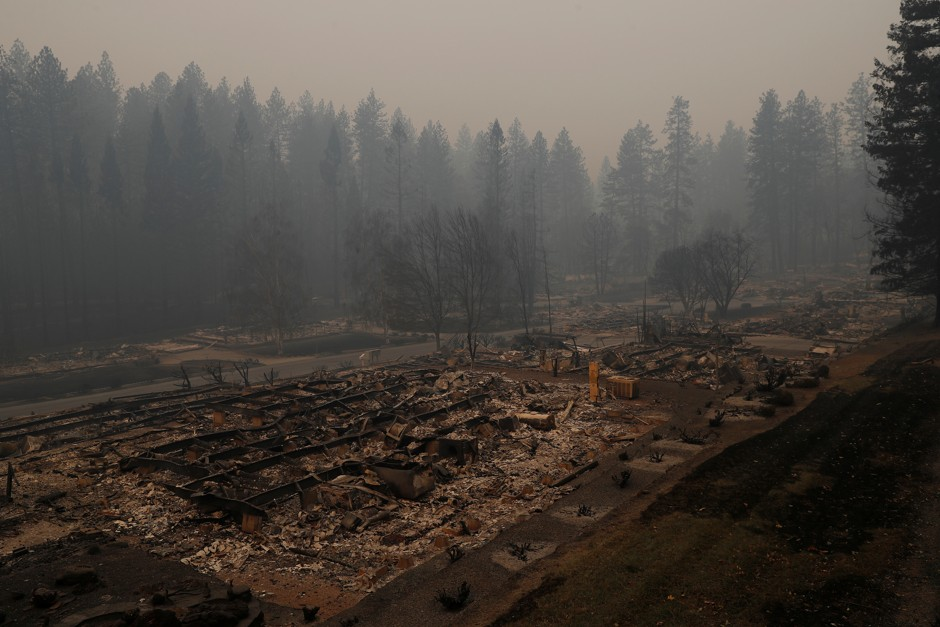 The crispy, empty lots in Paradise show the Camp Fire's ultimate destruction.