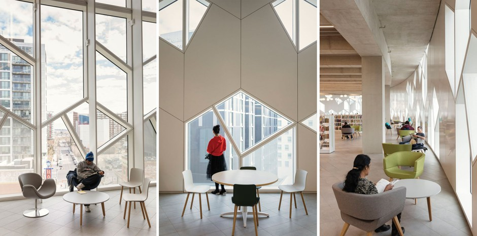 Patrons make use of the new spaces inside the Calgary Central Library