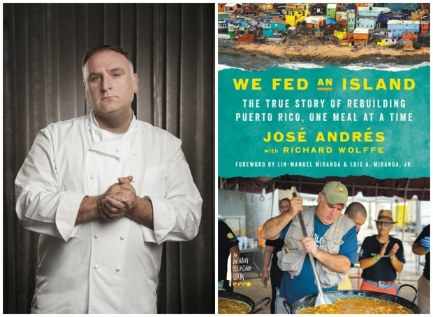 Jose Andres headshot and book cover