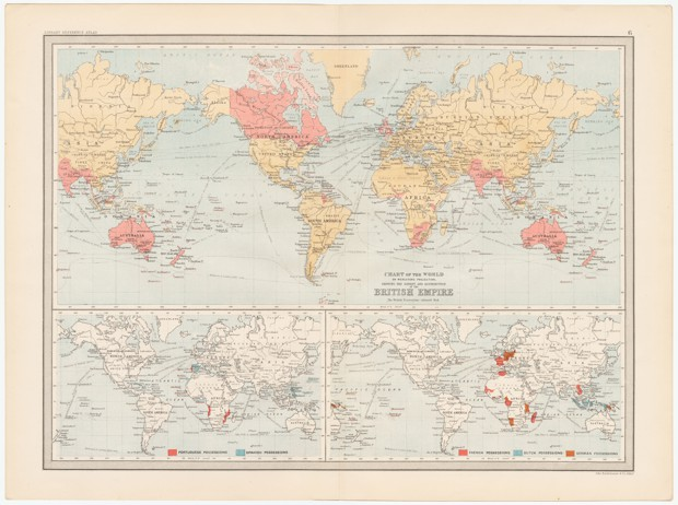 A 490 degree persuasive map of the British Empire.