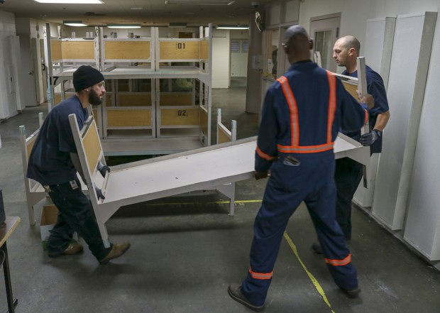 King County staff begin renovation work in the West Wing of the county jail.