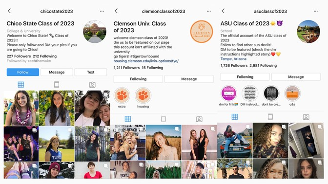 buy popular a9188 aa689 Many class accounts spawned Instagram group chats in which students not  only find roommates, but also figure out plans for orientation, discuss  rush, ...