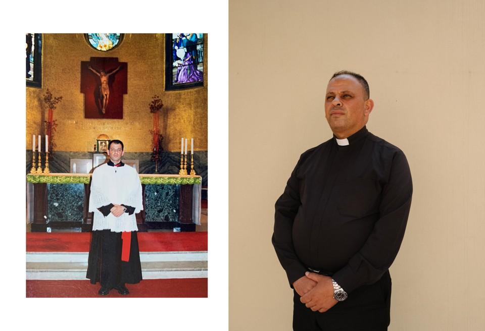 96615a092 الكاهن الشاب ثابت في بلدة كرمليس خلال الاسبوع المقدس.