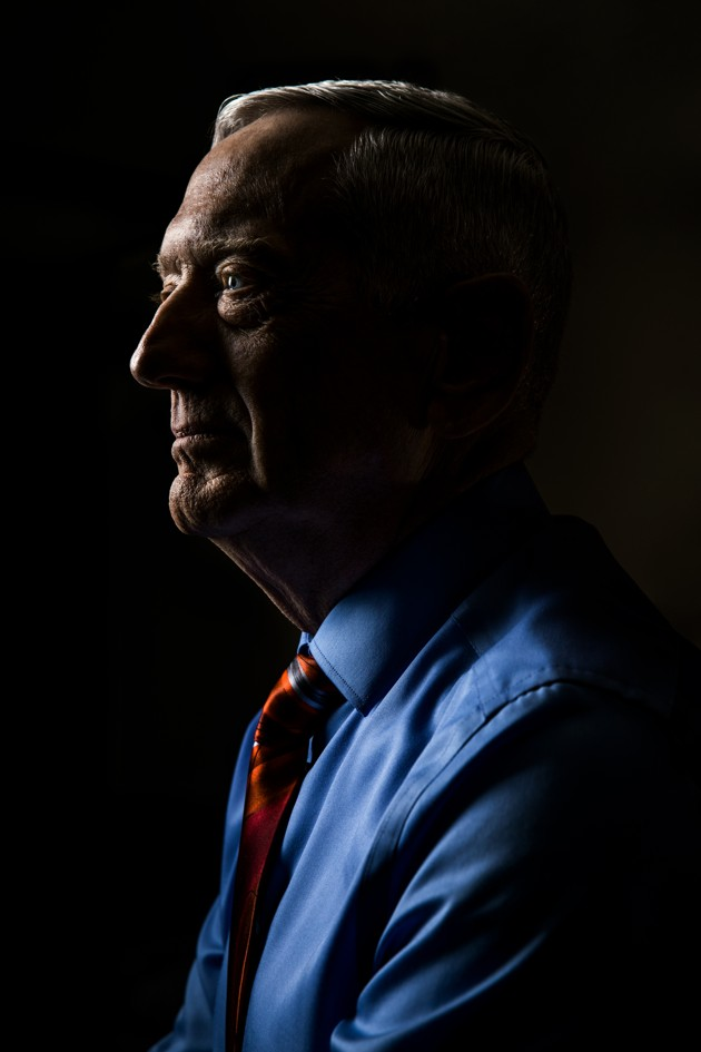 General James Mattis, photographed in his office at Stanford University, on June 10, 2019. — Photograph: Christie Hemm Klok/The Atlantic.