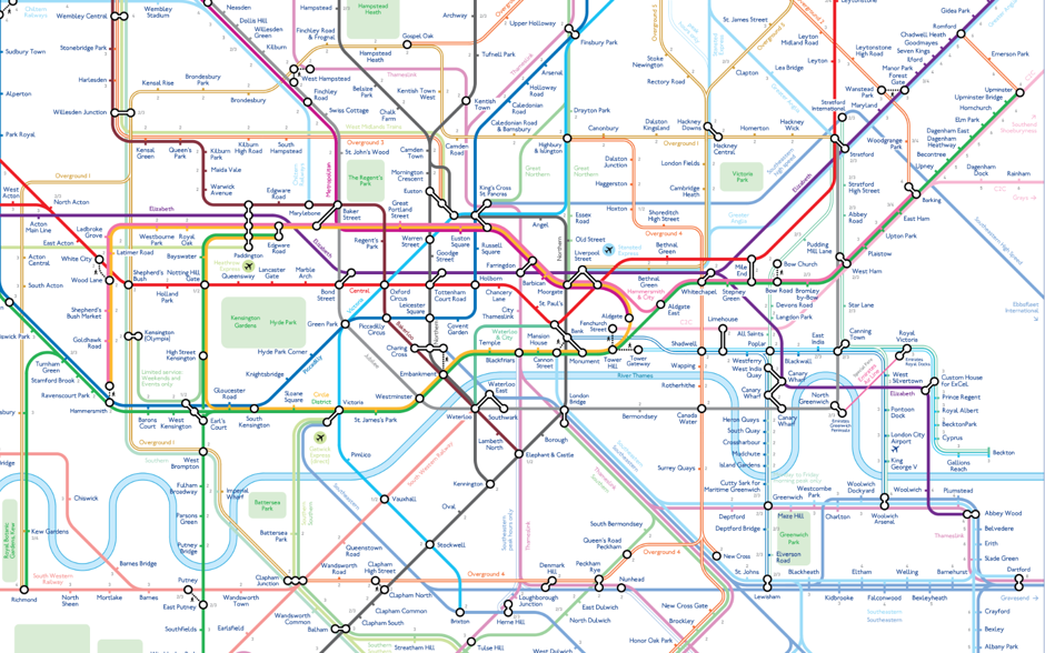 10 LONDON TUBE UNDERGROUND, SUBWAY, METRO MAPS Issue December 2016