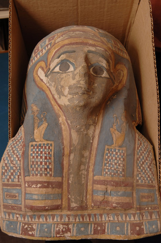 Mummy mask, ancient Egypt