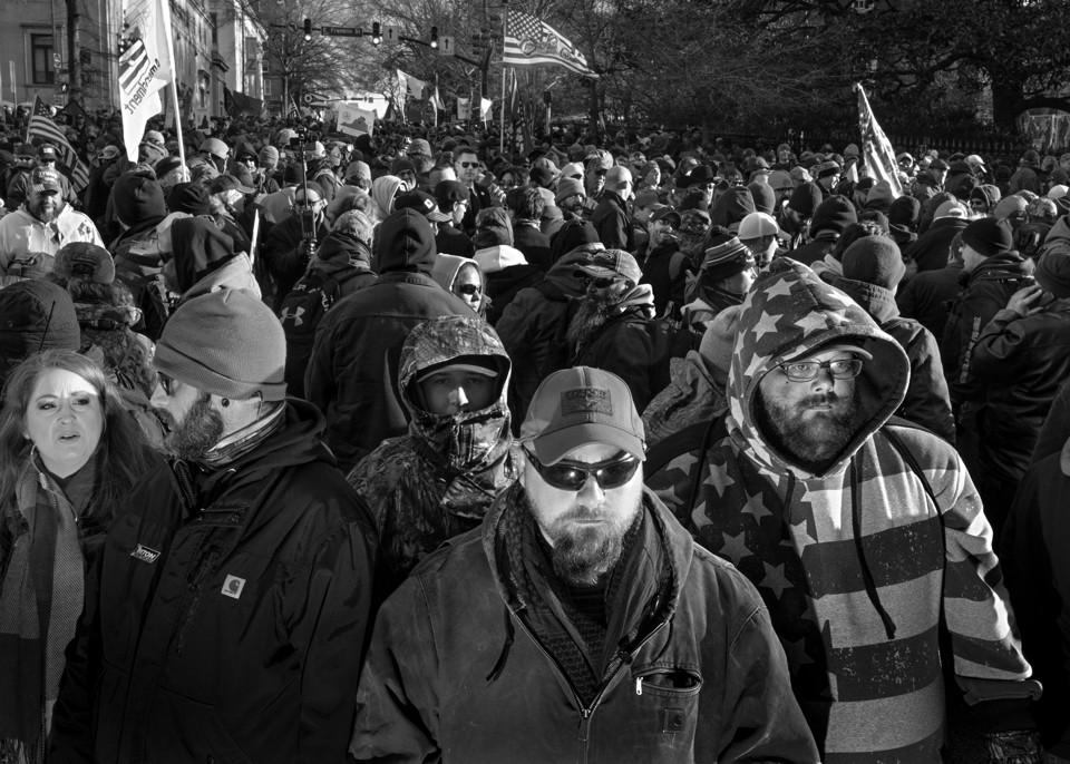 Gun-rights rally in Richmond, VA, on MLK Day