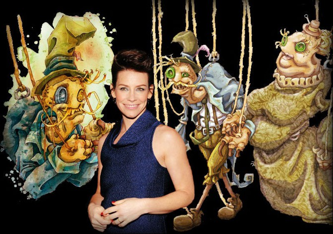 Evangeline Lilly's creepy Squickerwonkers characters scare—and teach—children