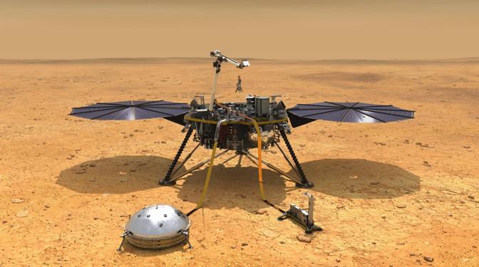 Nasa's InSight Mars Lander.