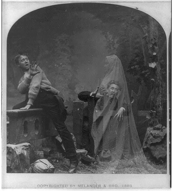 Cuando las cámaras tomaron fotografías de fantasmas