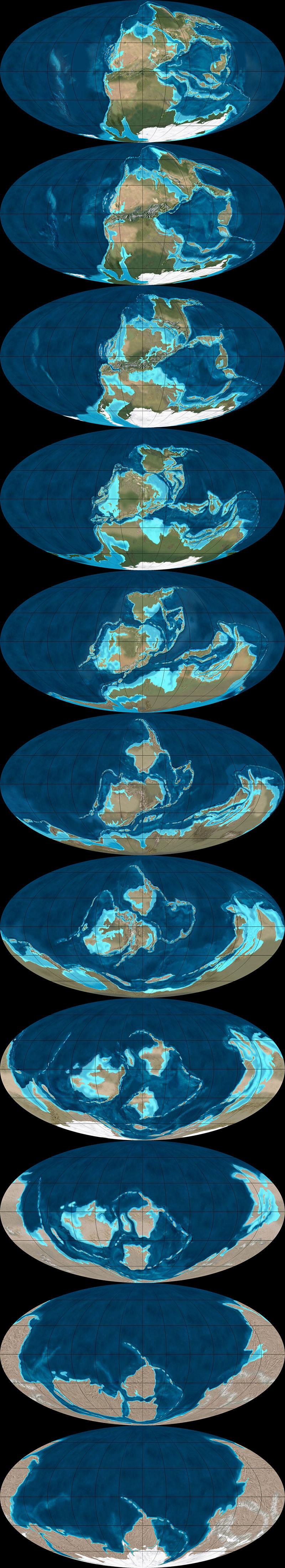 What Did the Continents Look Like Millions of Years Ago