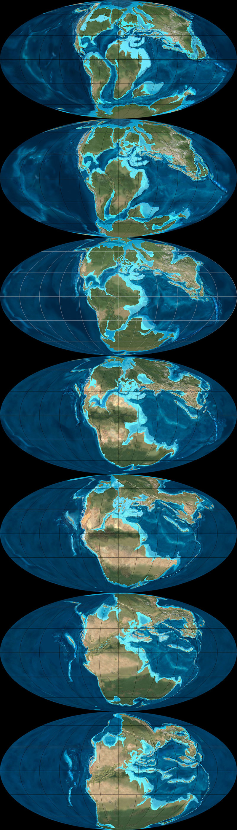 What Did the Continents Look Like Millions of Years Ago?   The