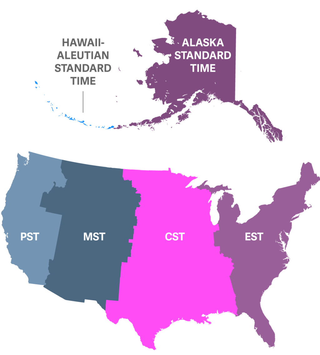 Daylight Saving Time Is Terrible Heres A Simple Plan To Fix It - Map of the time zones in the us