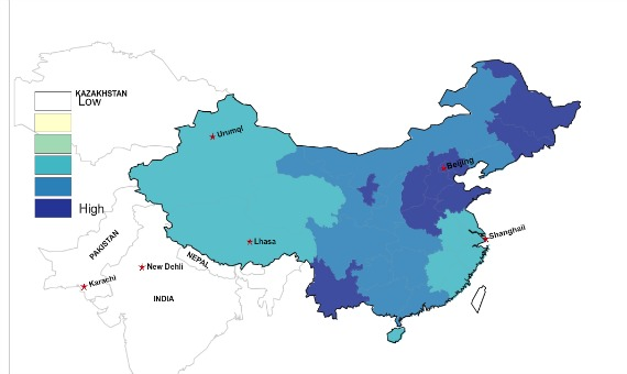 The Geographic Distribution Of Chinas Last Names In Maps The - Common surname map us