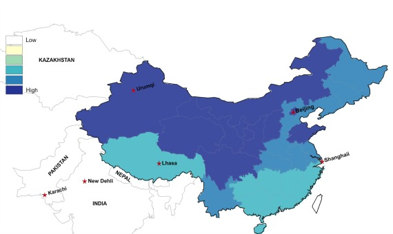 the geographic distribution of china s last names in maps the