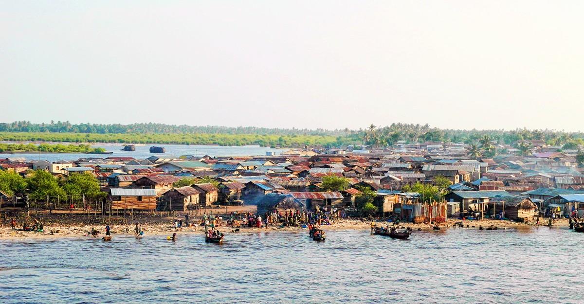 Town near Lagos, Nigeria.