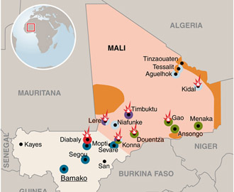 A Map of the Bewildering Mali Conflict - The Atlantic