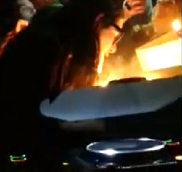 Skrillexs Birthday Cake Lit Skrillex On Fire The Atlantic
