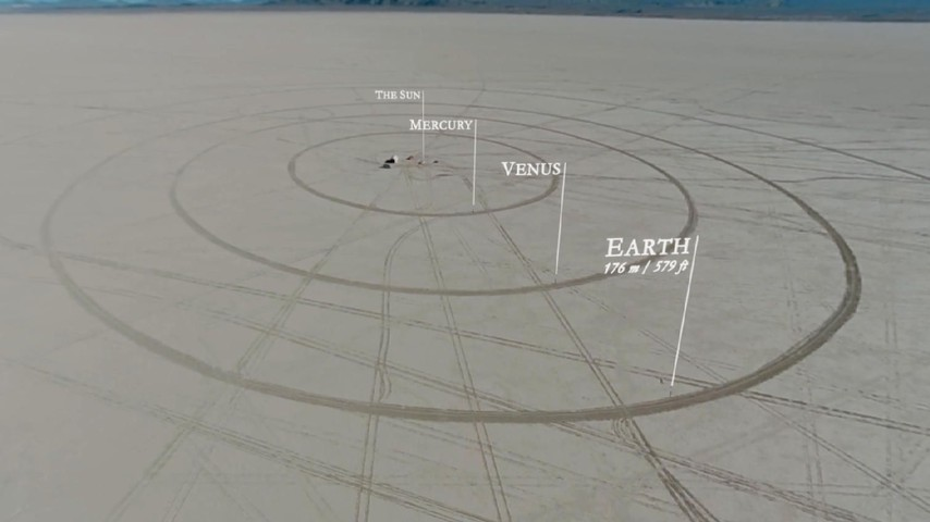 To Scale The Solar System Drawn In The Nevada Desert The Atlantic