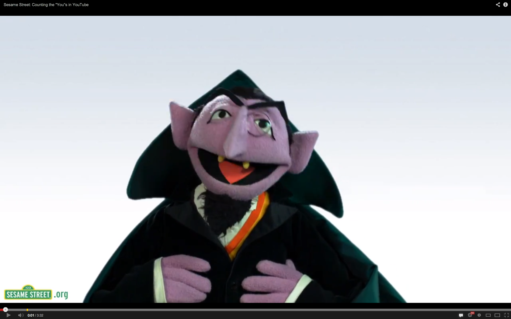 Sesame Street S Count Von Count Can T Count The Atlantic
