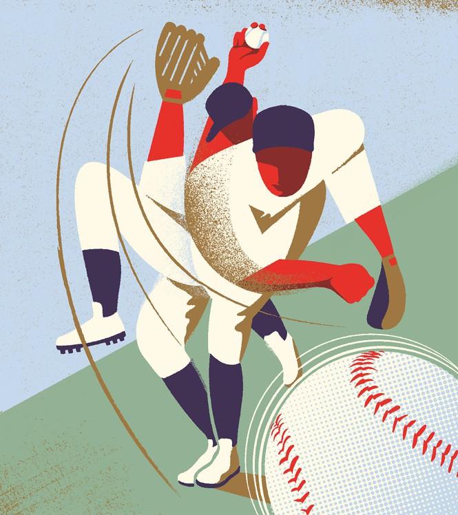 illustration of a pitcher