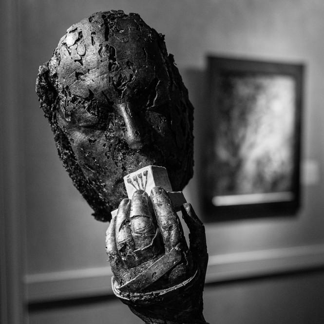 A sculpture at the Shtetl gallery