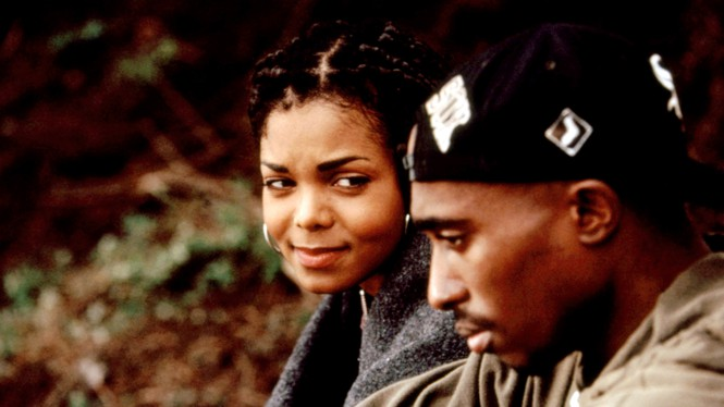 """Janet Jackson and Tupac Shakur in """"Poetic Justice"""""""