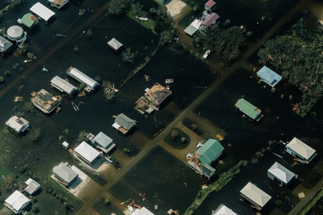 Grand Isle submerged in water