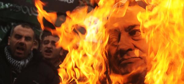 Mubarak protest on fire.jpg