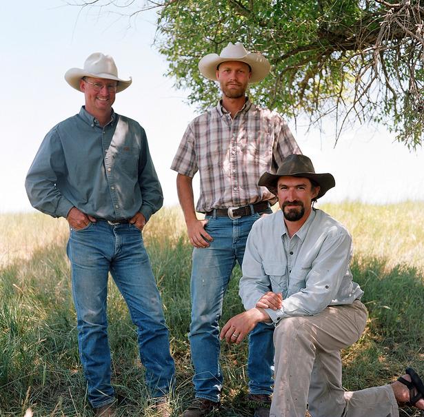 Jim Howell,  Brandon Dalton and Zachary Jones, Horse Creek, SD.JPG