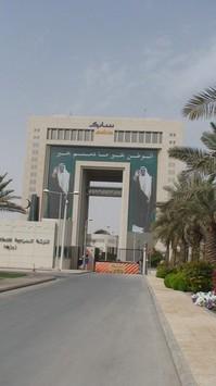 Thumbnail image for Giant Abdullah photos at Sabic building.JPG